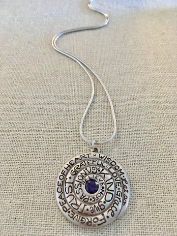 Gratitude Spiral Iolite Necklace