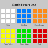 Sticker Set Classic Square 3x3x3