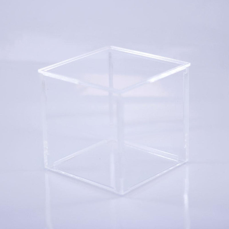 Clear Cube Storage and Display Box 10cmx10cm