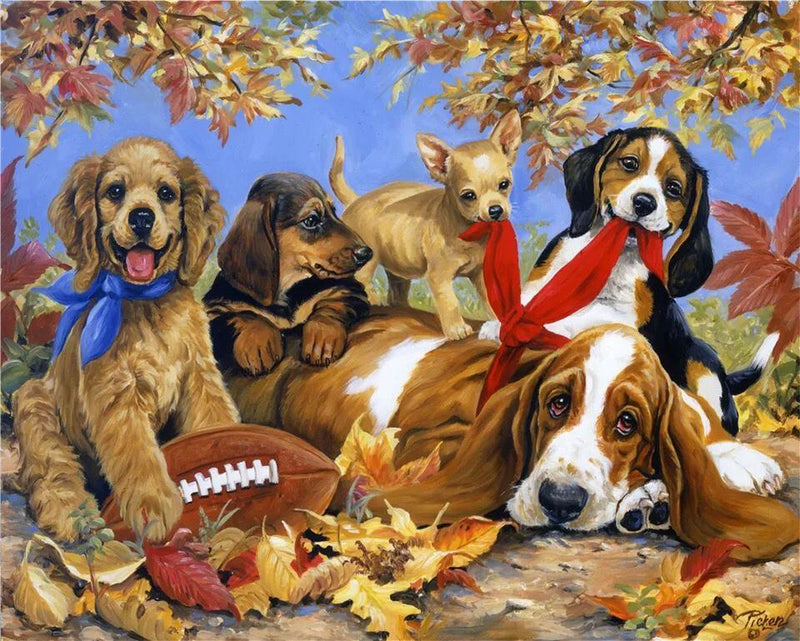 "Bei Bi La 1000 Piece Jigsaw Puzzle ""Puppies"""
