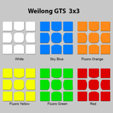 Sticker Set MoYu Weilong GTS 3X3X3 Fitted