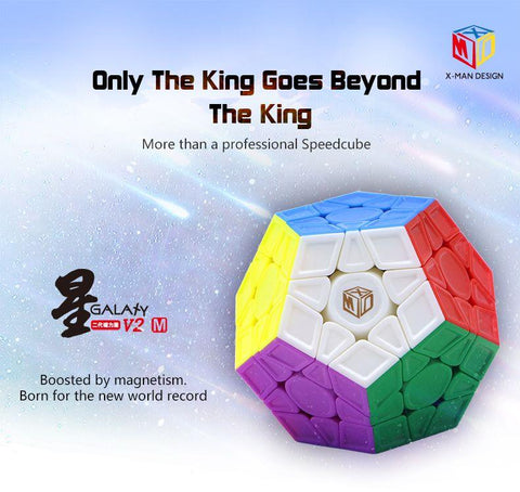 X-Man Design Galaxy V2 M Magnetic Megaminx SCULPTED