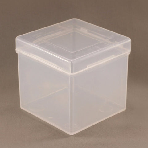 Transparent Cube Storage Box (white)