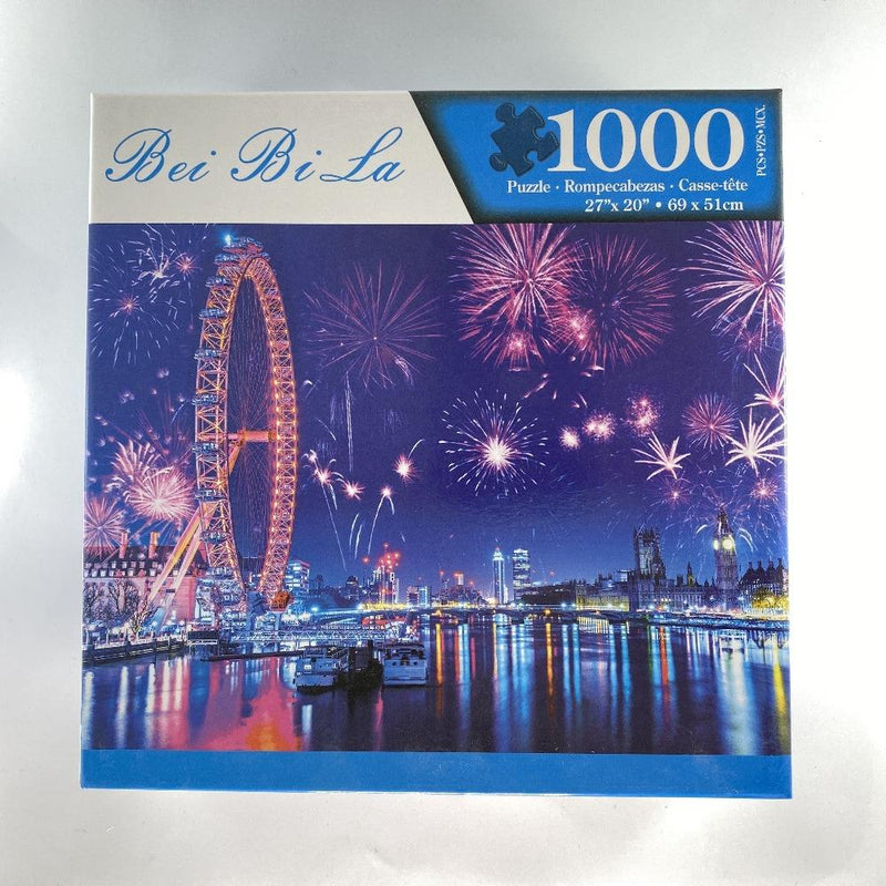 "Bei Bi La 1000 Piece Jigsaw Puzzle ""New Years Eve Fireworks Celebration"""