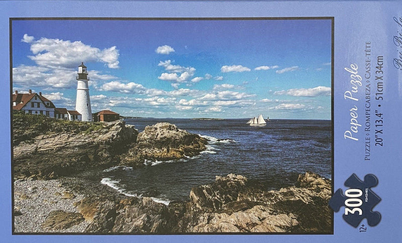 "Bei Bi La 300 Piece Jigsaw Puzzle ""Lighthouse with Sailboat"""
