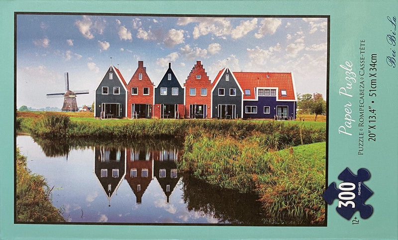 "Bei Bi La 300 Piece Jigsaw Puzzle ""Barn with Windmill"""