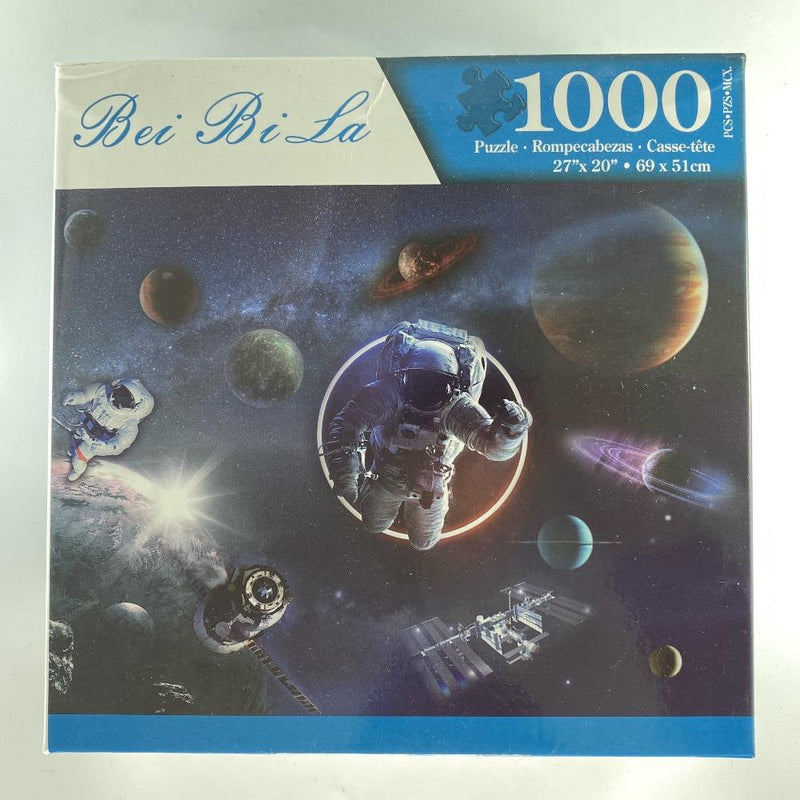 "Bei Bi La 1000 Piece Jigsaw Puzzle ""Astronauts in Outer Space"""