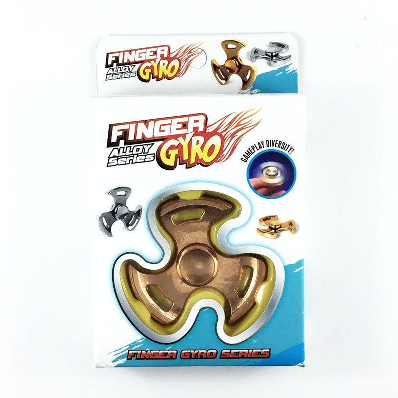 Fidget Alloy Metal Tri Spinner CURVED EDGE
