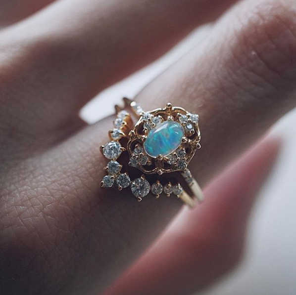tippy taste jewelry cosmic opal ring