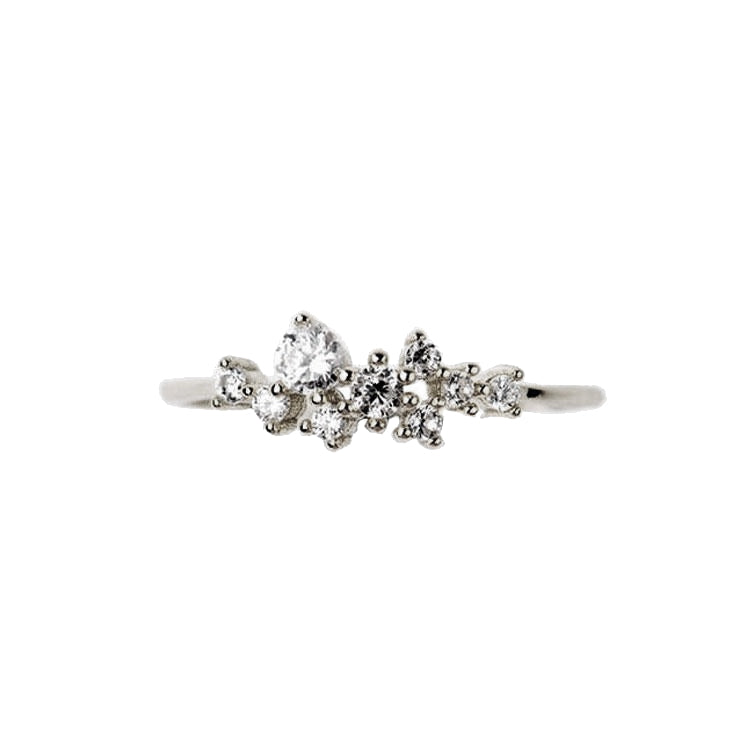 14K Snow Queen Dainty Ring