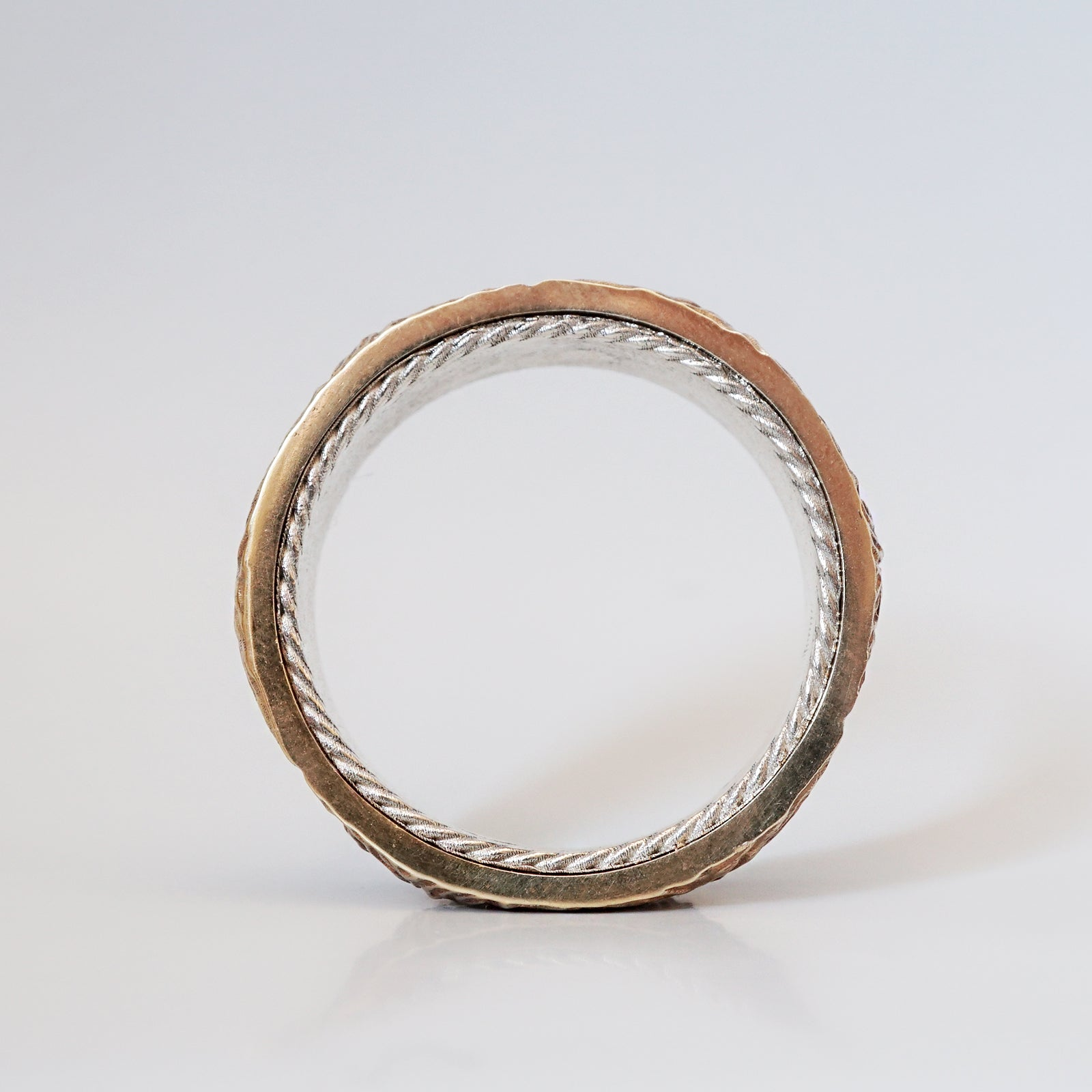 Mixed Metal Montona Ring, 7.2mm - Tippy Taste Jewelry