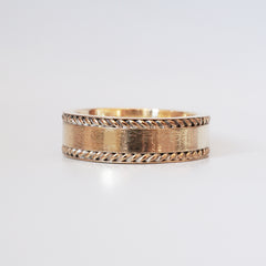 14K Twist Ring Band