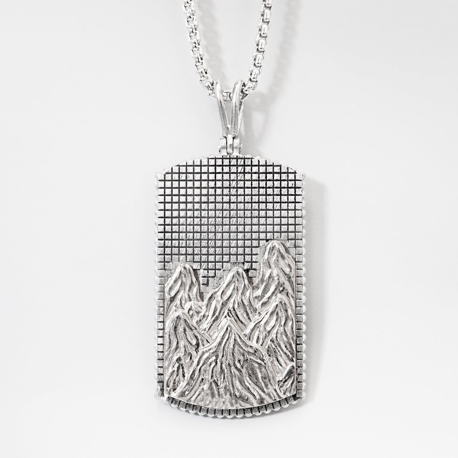 Mixed Metal Mountain Pendant - Tippy Taste Jewelry