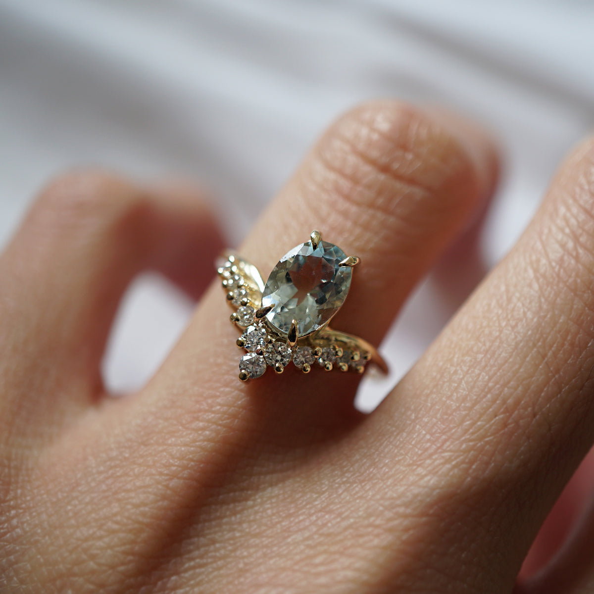 14K All A Dream Aquamarine Ring - Tippy Taste Jewelry