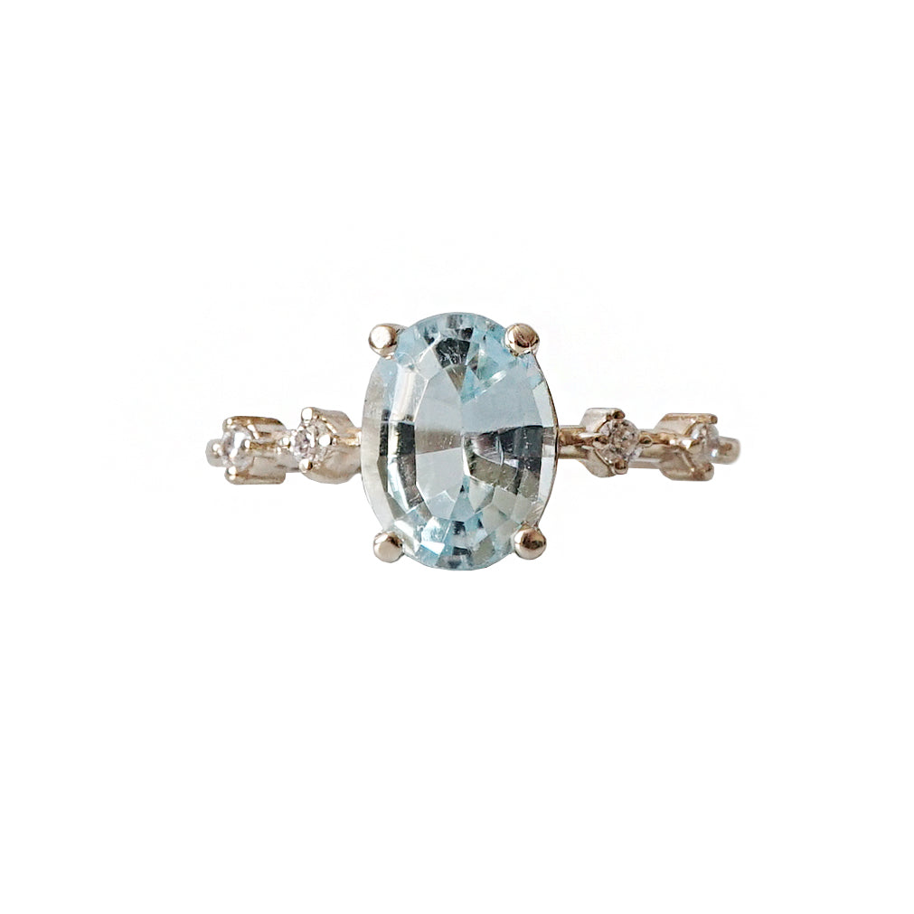 Summer Sky Blue Topaz Ring - Tippy Taste Jewelry