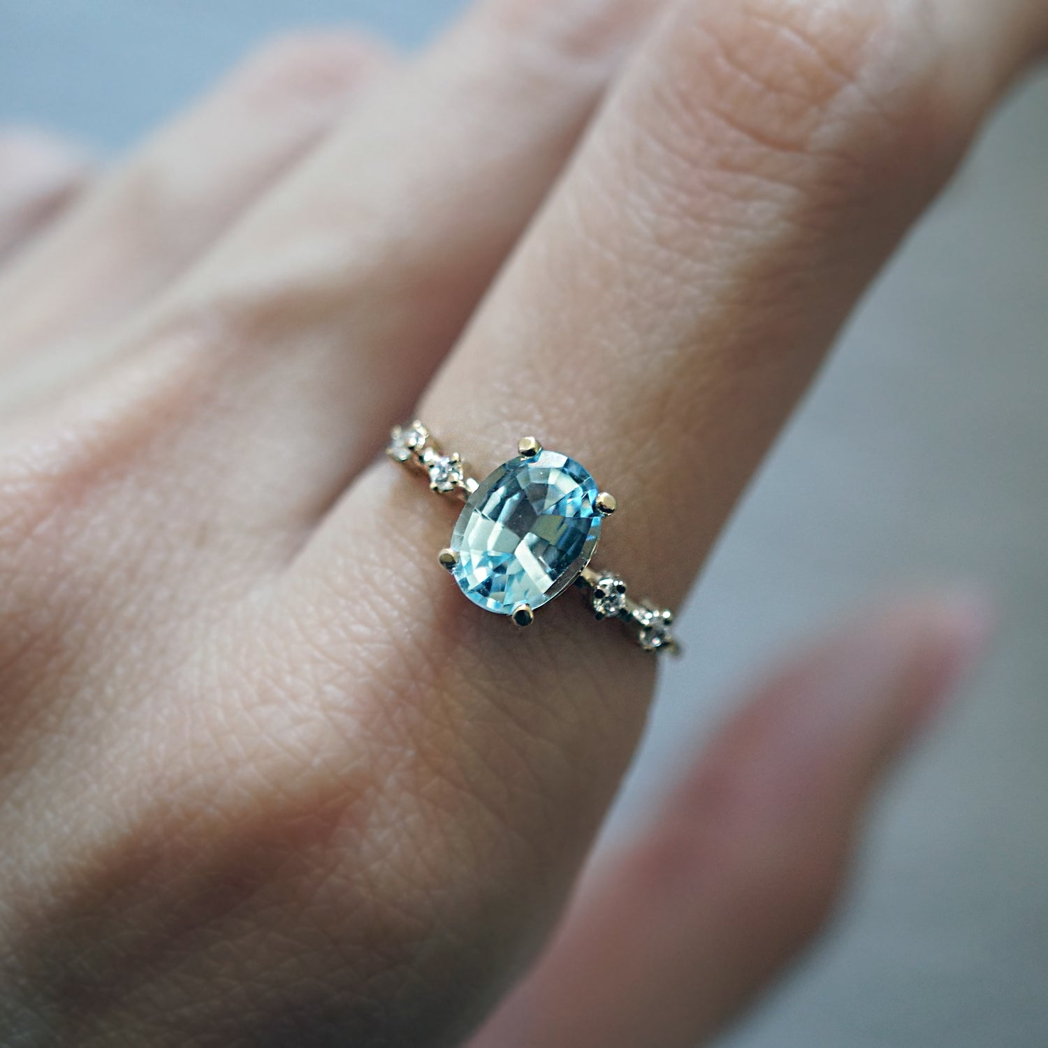 Summer Sky Blue Topaz Ring