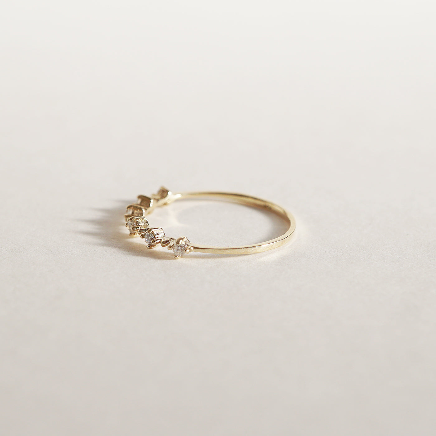 14K Solid Gold Twinkle Diamond Ring