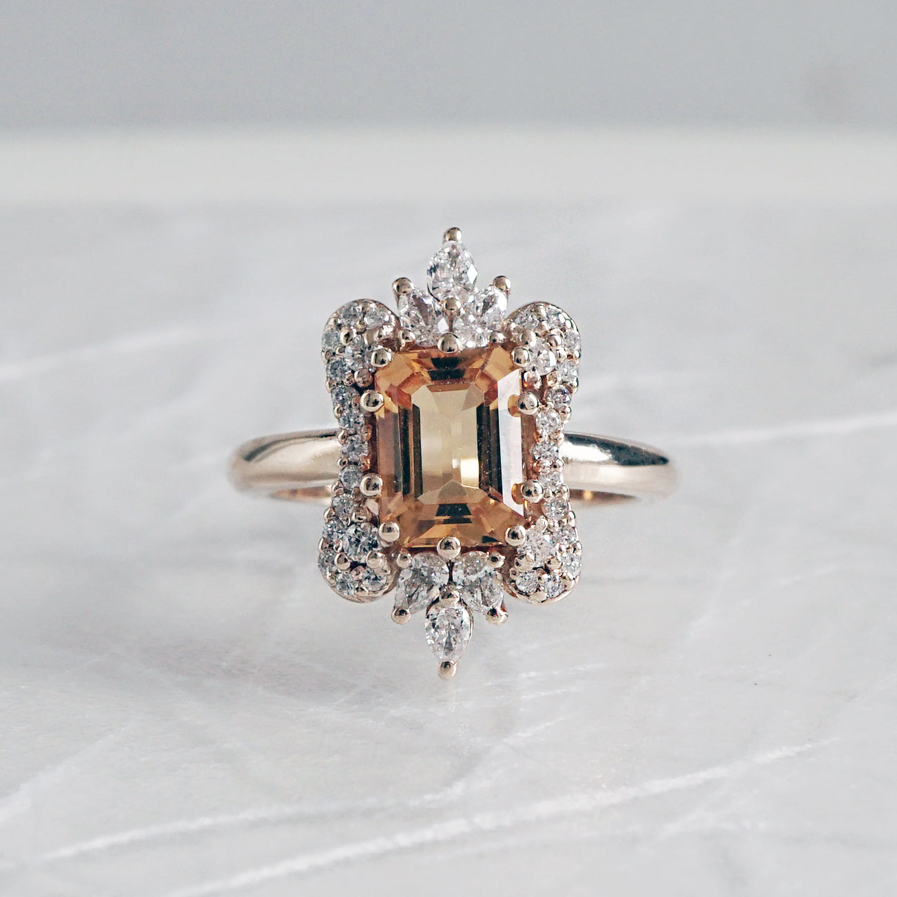 Eleanor Citrine Diamond Ring