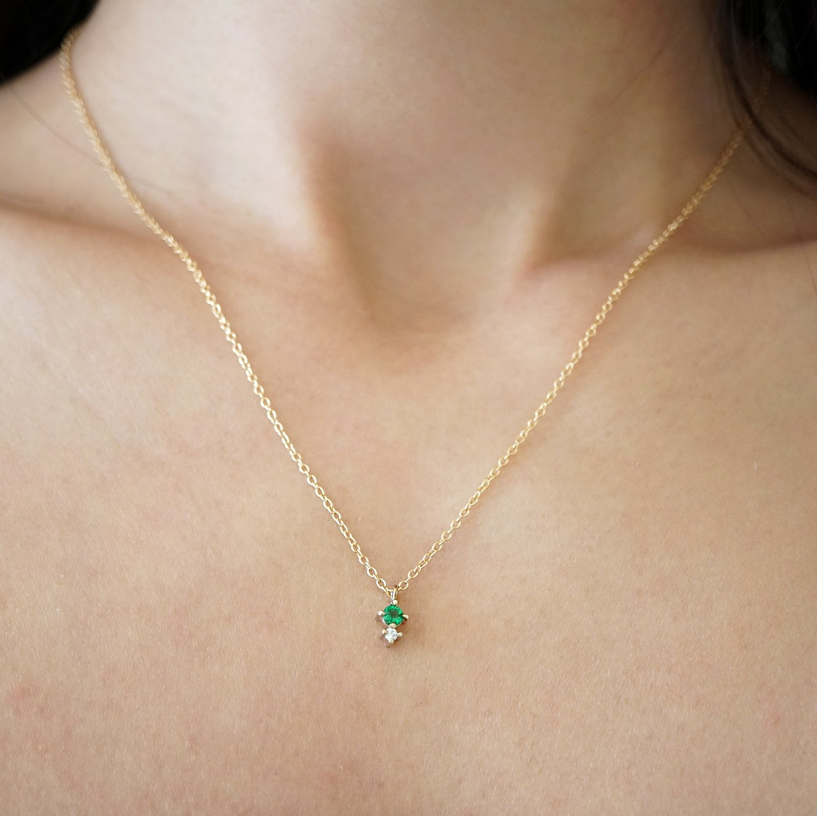 Petite Forest Emerald Necklace - Tippy Taste Jewelry