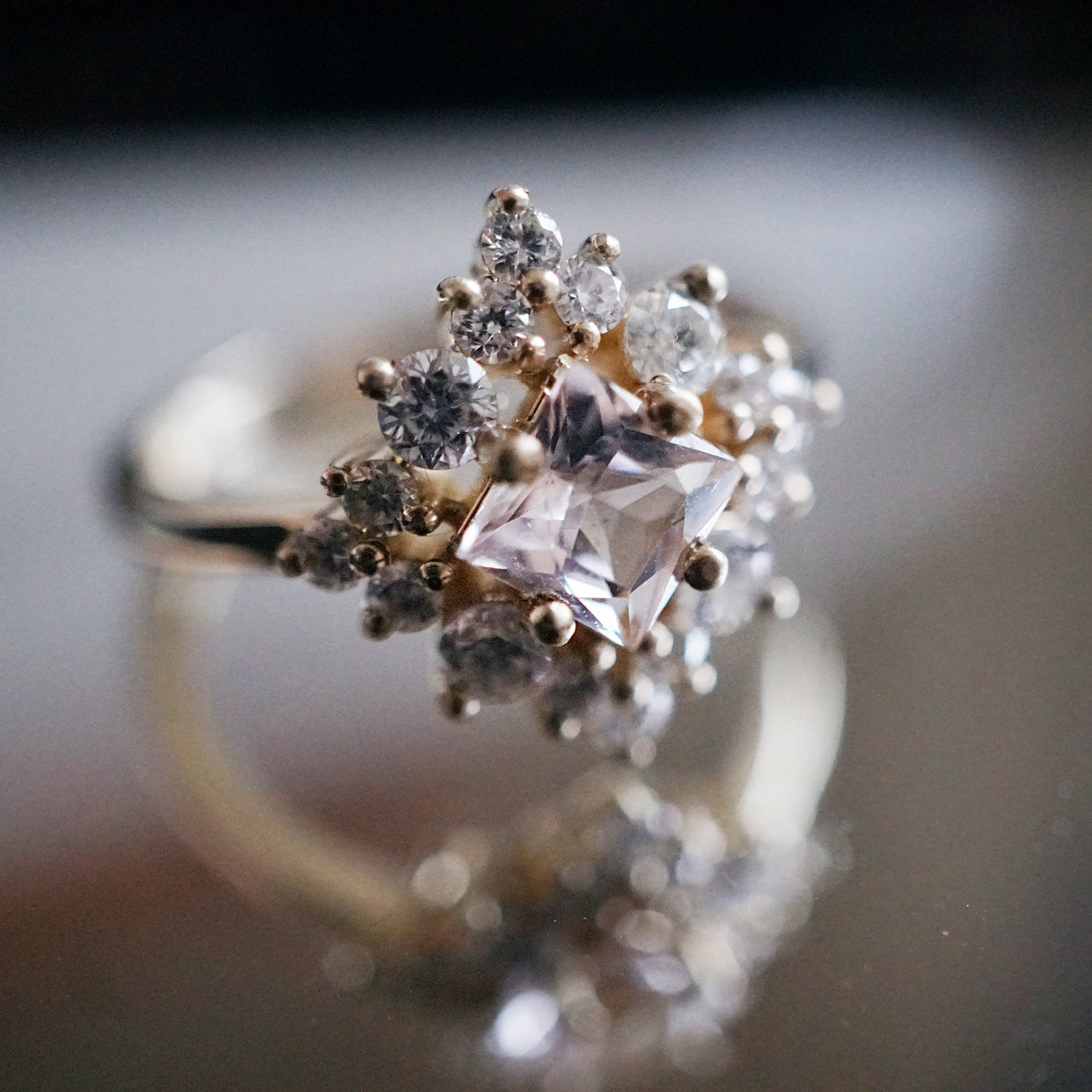 Aphrodite Morganite Diamond Ring - Tippy Taste Jewelry