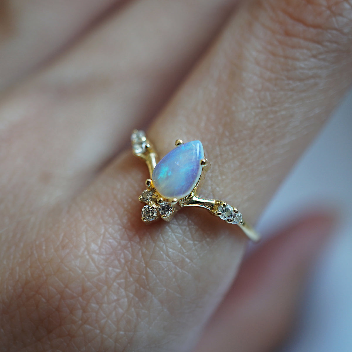 Opal Blossom Ring - Tippy Taste Jewelry
