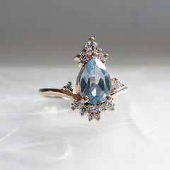 Freya Aquamarine Diamond Ring - Tippy Taste Jewelry