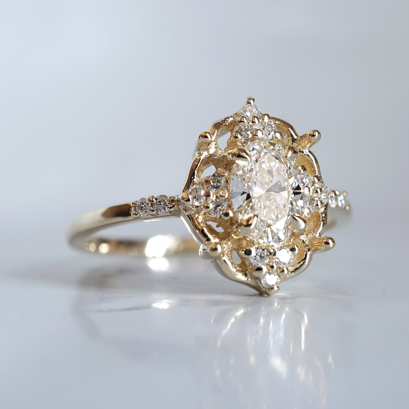 Moonstone Rosie Diamond Ring - Tippy Taste Jewelry
