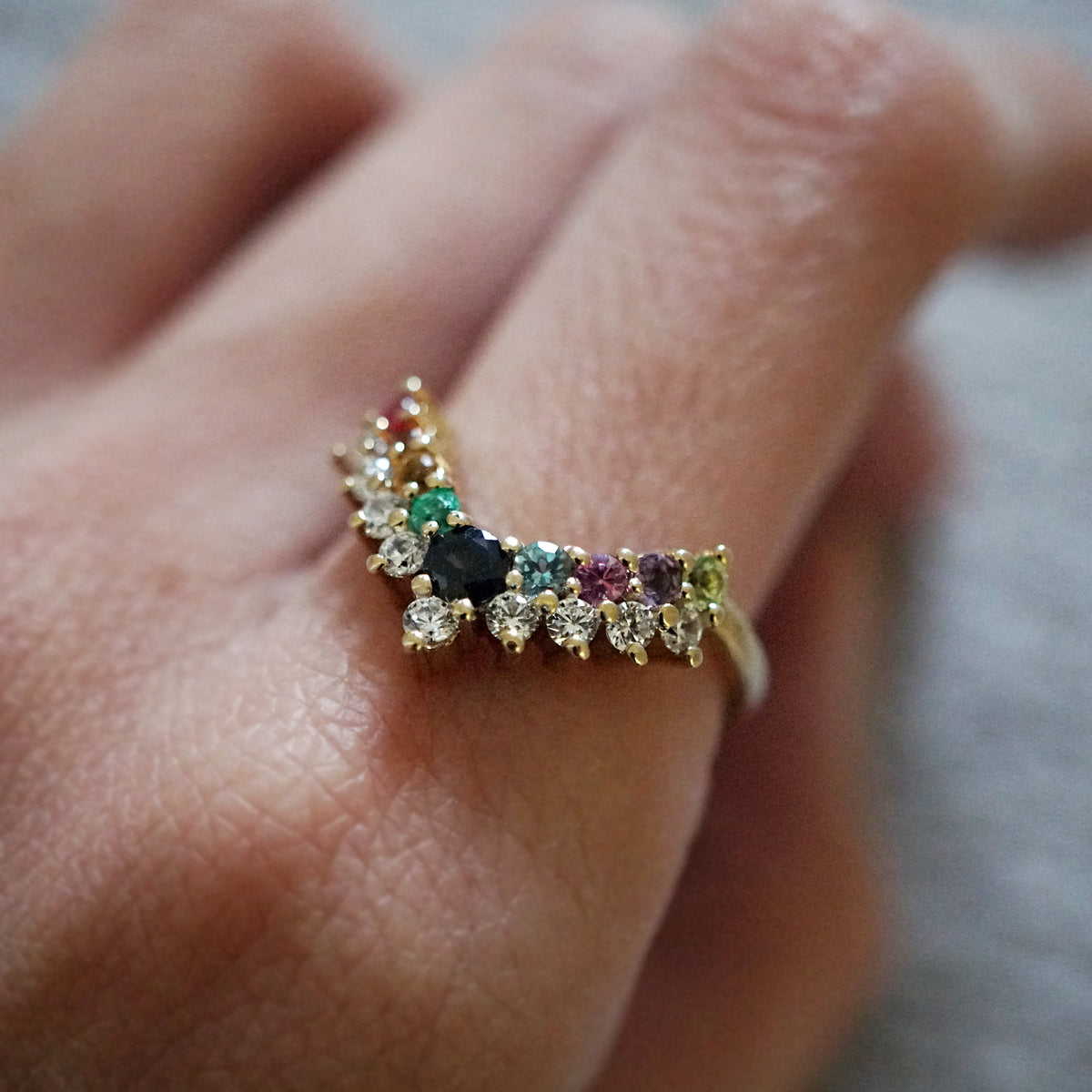 Rainbow Diamond Ring - Tippy Taste Jewelry