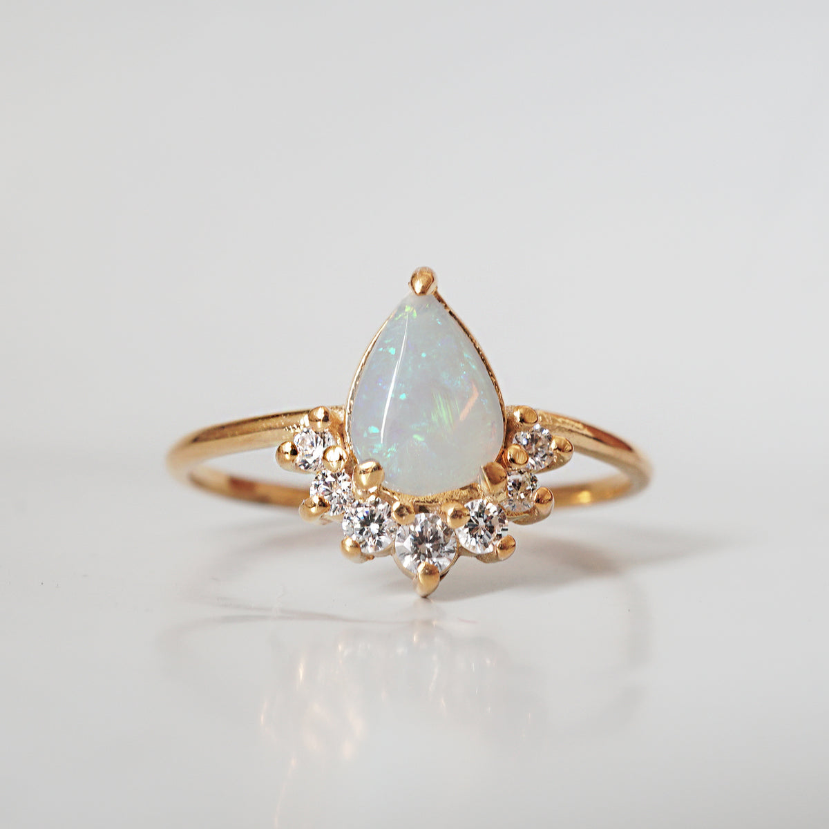 Australian Opal Bubble Ring