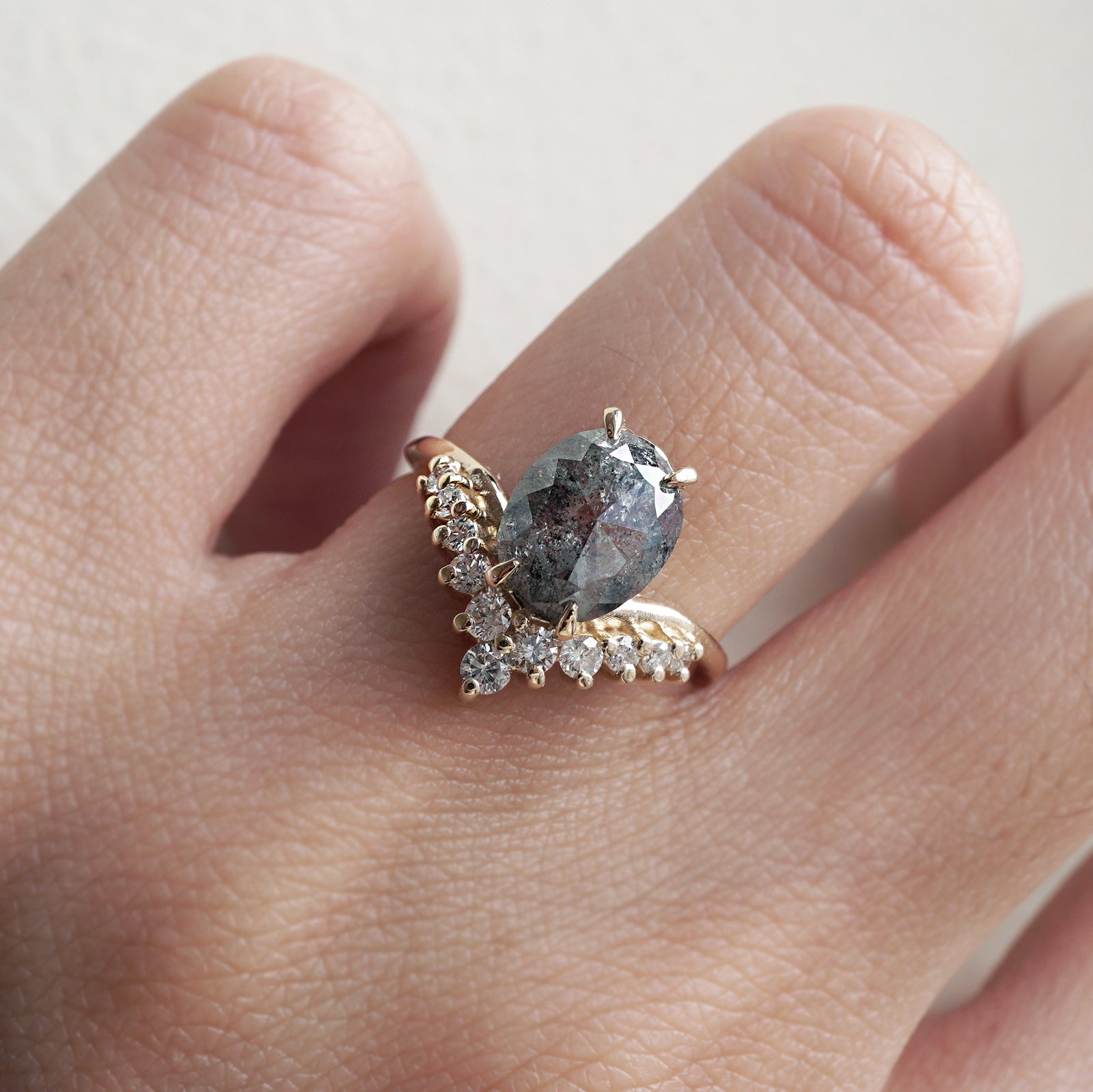 Limited Edition: 1.42 Carat All A Dream Salt & Pepper Diamond Engagement Ring