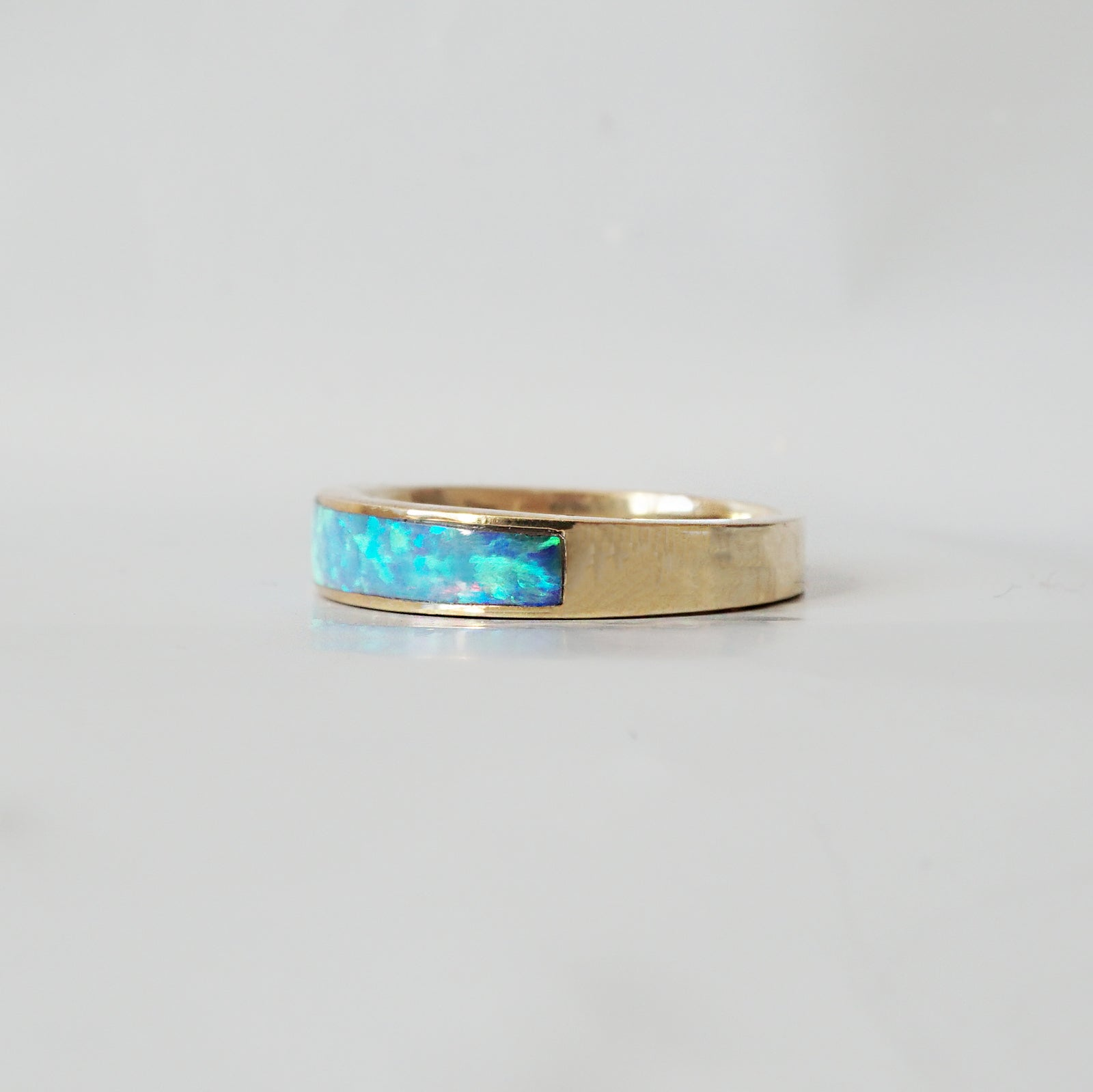Opal Ring Band, 3.5mm - Tippy Taste Jewelry