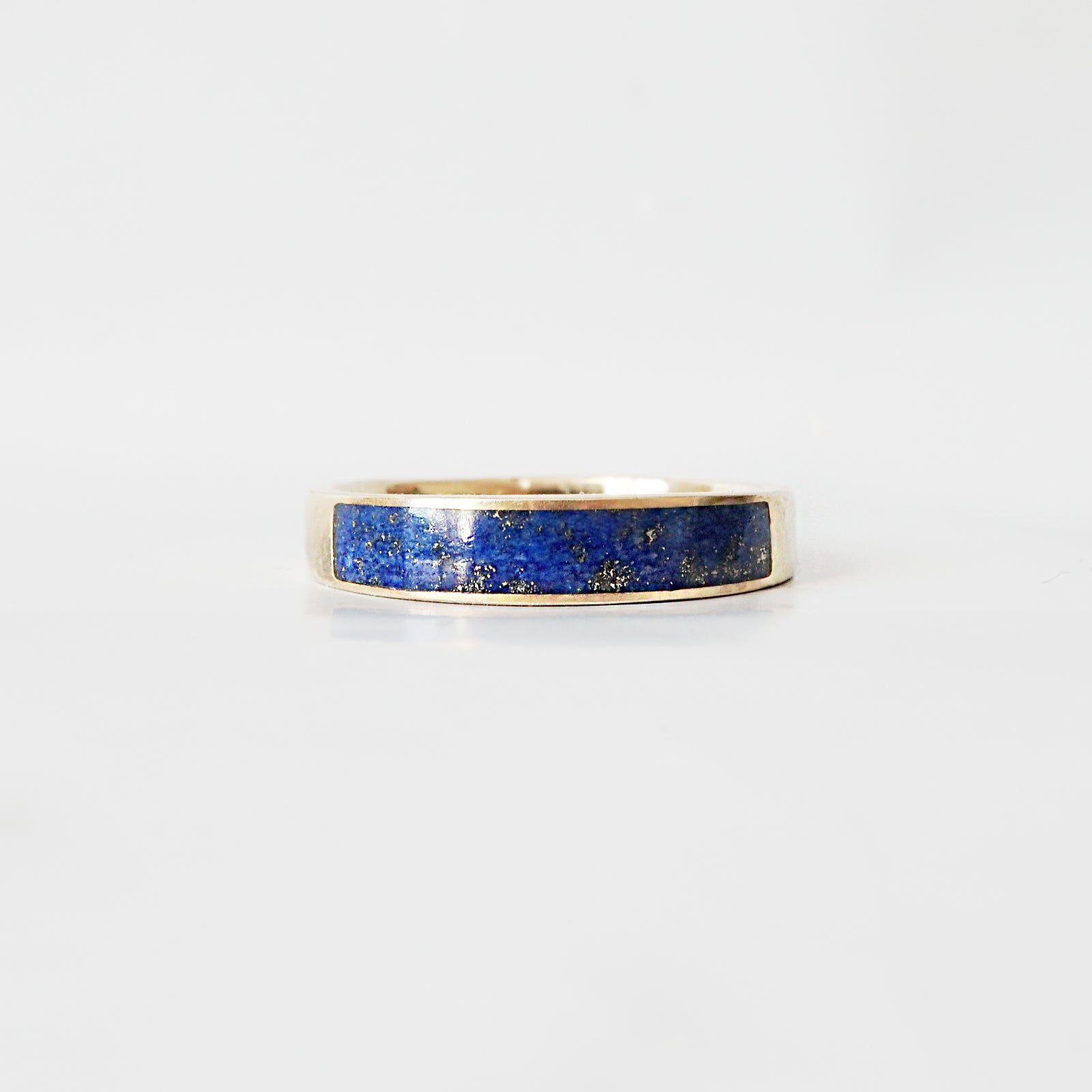 Lapis Lazuli Ring Band, 3.5mm - Tippy Taste Jewelry