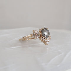 Limited Edition: Salt and Pepper Butterfly Diamond Ring - Tippy Taste Jewelry