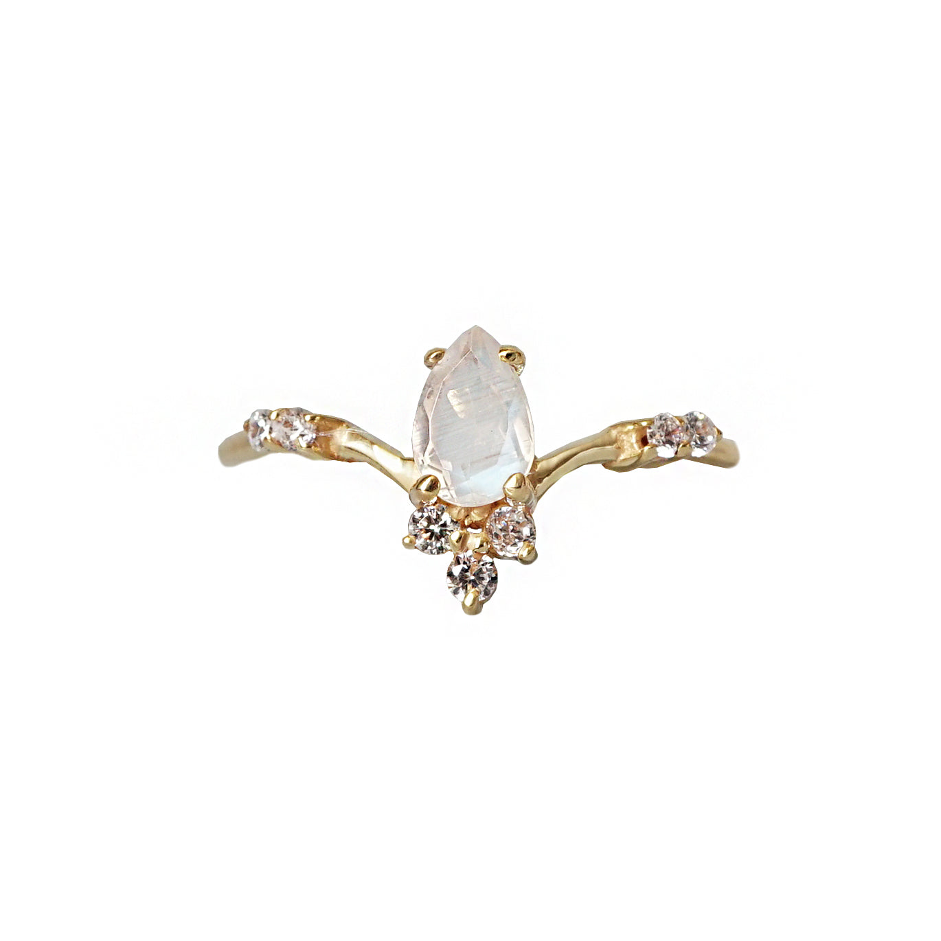 Limited Edition: Mini Moonstone Blossom Ring