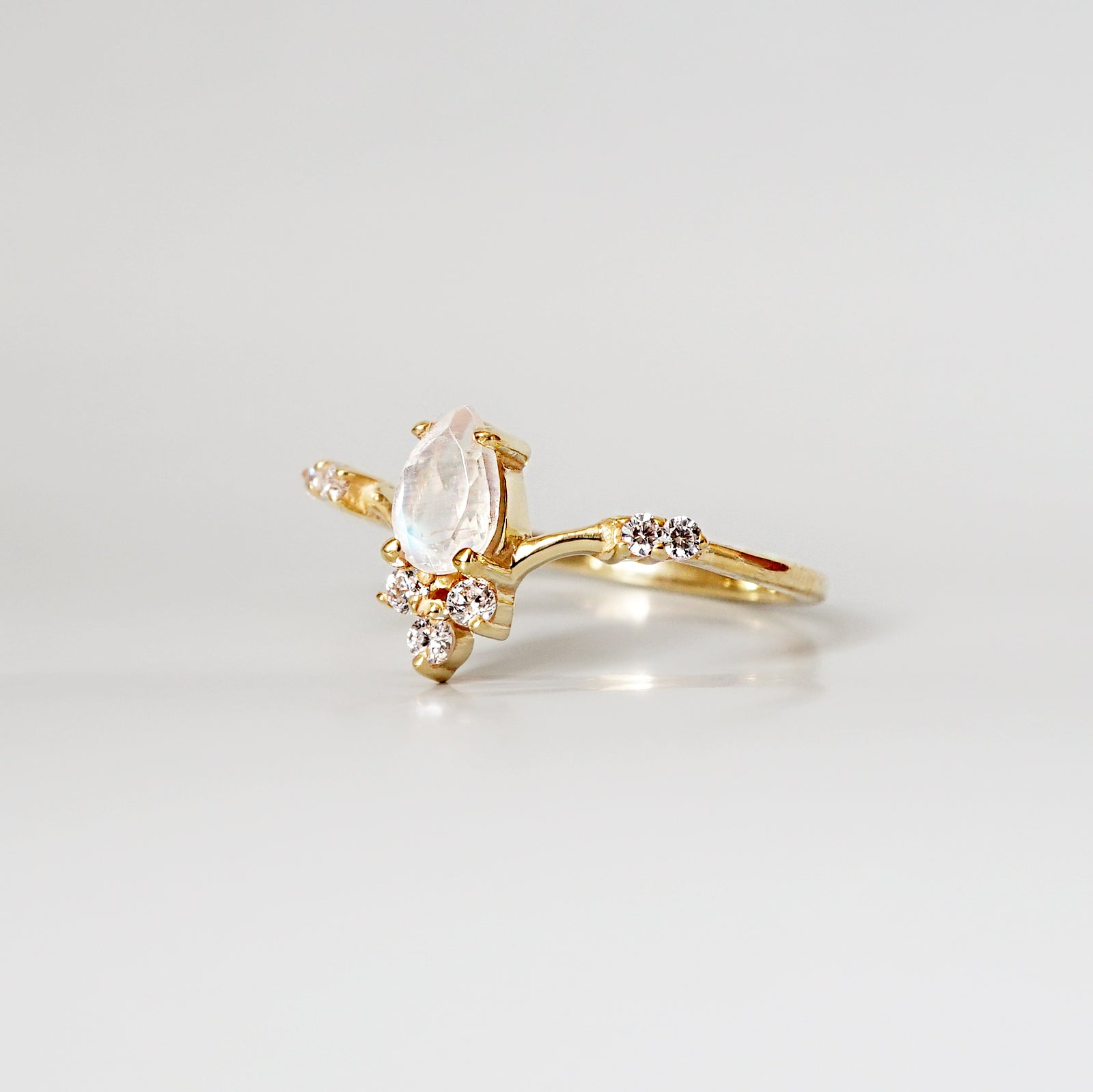 Limited Edition: Mini Moonstone Blossom Ring - Tippy Taste Jewelry