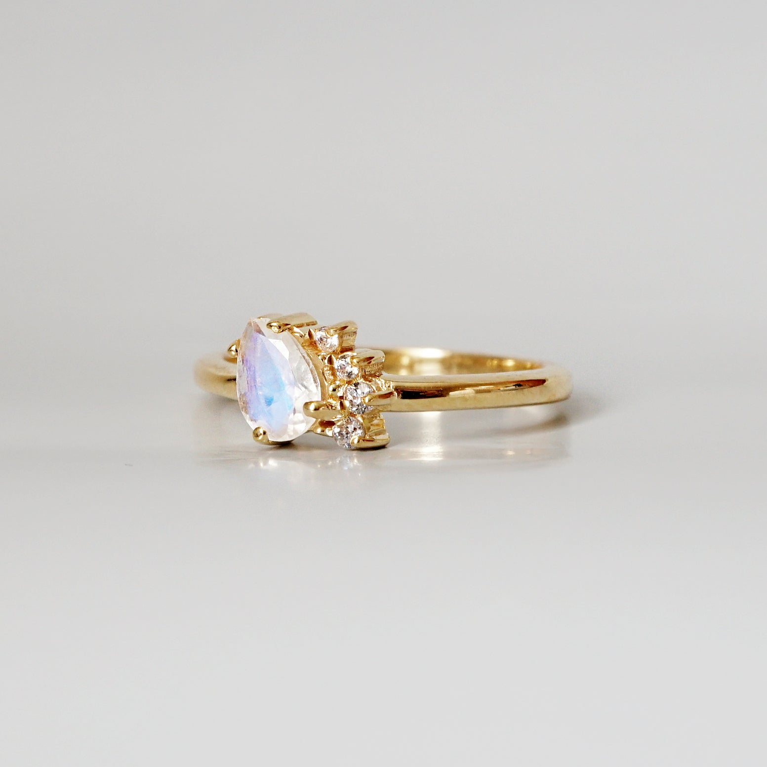 Limited Edition: Mini Moonstone Sweetheart Ring - Tippy Taste Jewelry
