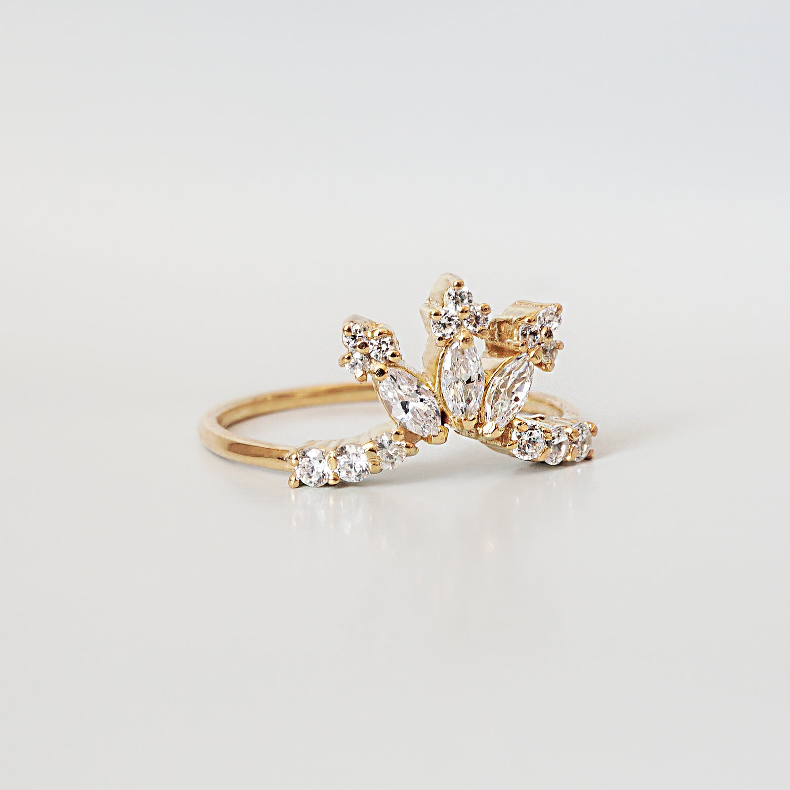 14K Château Marquise Ring