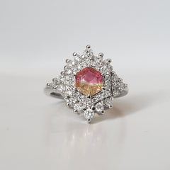Tourmaline Diamond Palace Ring