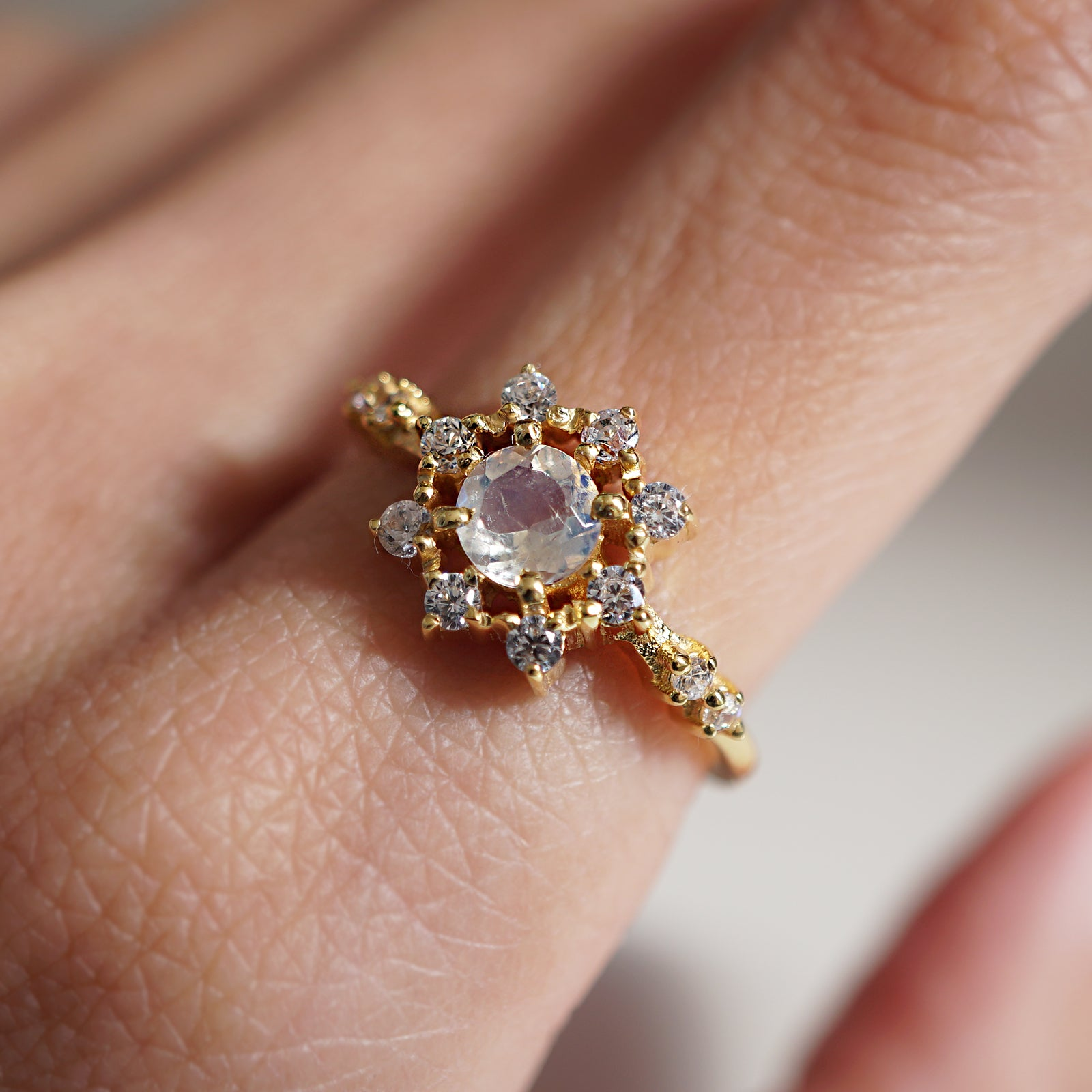 Limited Edition: Starlight Moonstone Ring - Tippy Taste Jewelry