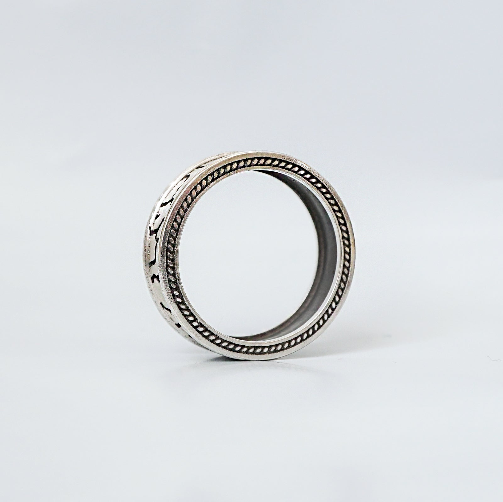 Stone Age Silver Ring