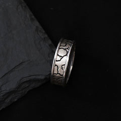 Stone Age Silver Ring - Tippy Taste Jewelry