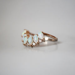 14K Mermaid Tears Diamond Ring - Tippy Taste Jewelry