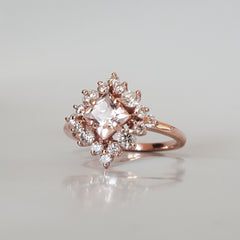Aphrodite Morganite Diamond Ring
