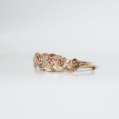 14K Rose Ring Band