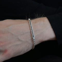 Black Diamond Lining Bracelet