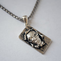 Abstract Art Soap Man Necklace