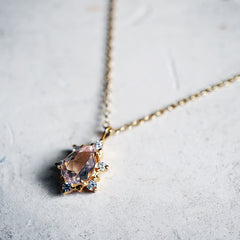 Morganite Crush Necklace - Tippy Taste Jewelry