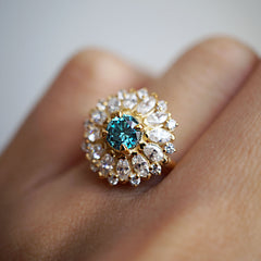 Dandelion Blue Diamond Ring