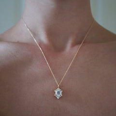 Rosie Moonstone Diamond Necklace