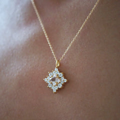 Aphrodite  Morganite Diamond Necklace